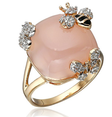 Rose Gold Plated Spring Bee Ring