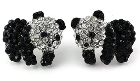 Panda Bear Stud Post Earrings