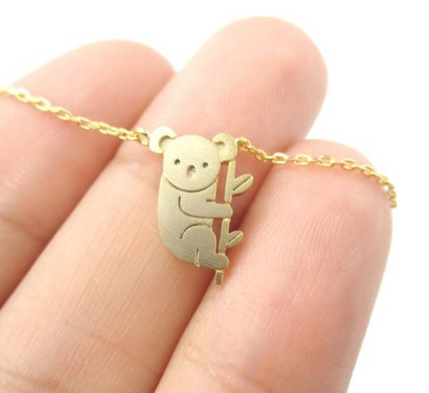 Koala Bear and Branch Necklace