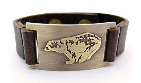 Bear Leather Bracelet, Adjustable