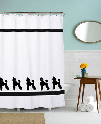 Poodle Print Shower Curtain