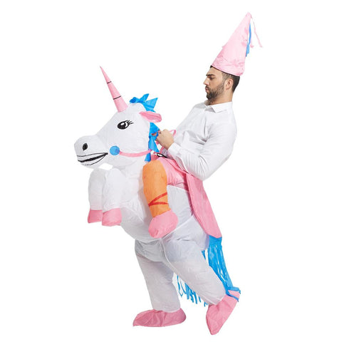 Funny Inflatable Riding Unicorn Costume