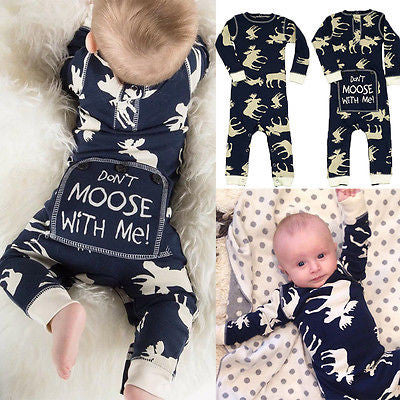 Cute Moose RomperJumpsuit