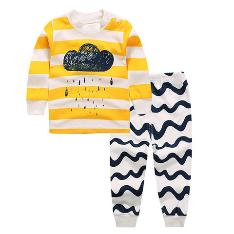 Clouds Stripe Baby Jumpsuit