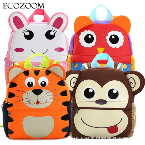 3D Cute Animals Design Backpack