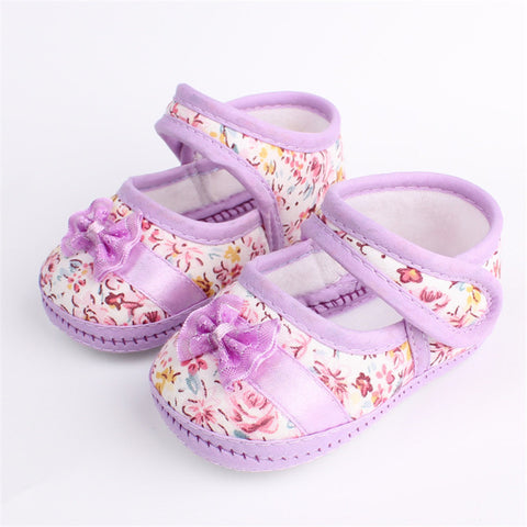 Girls Flowers Bow Shoes