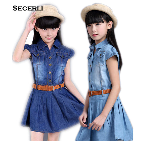 Denim Toddler Girls Dress