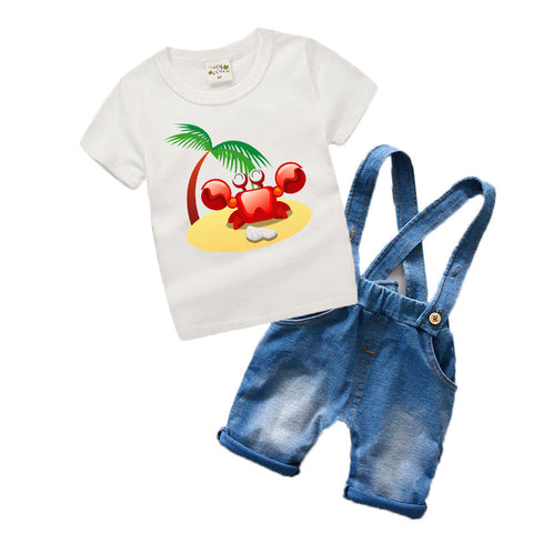 Crab Cartoon Toddler Set