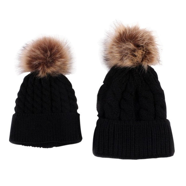 Stylish Fuss Free! Fur Knitted Pompom Cap