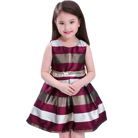 Girls Sleeveless Dress for 3-10 Year Olds