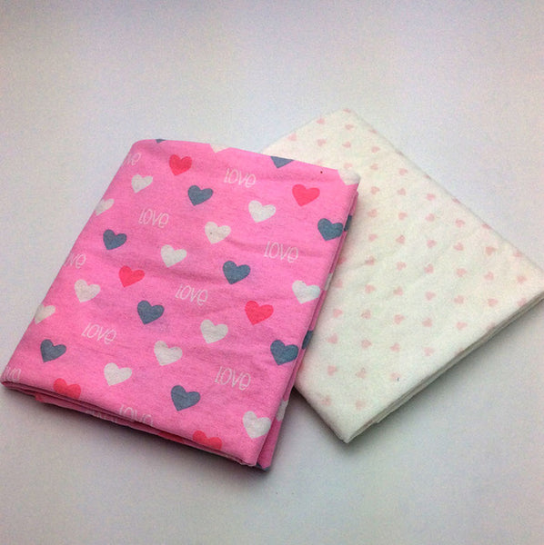 2pcs 100% cotton Flannel Baby Blanket Newborn Super Soft