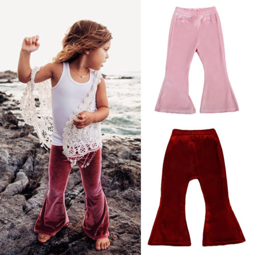 Creative Well-Made! Bell Bottom Stretch Pleuche Pants
