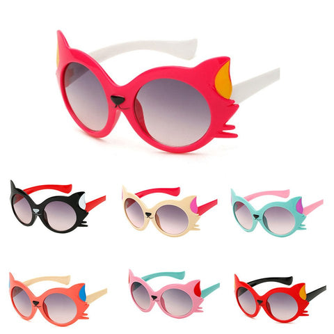 Fashion Cartoon Cat UV400 Toddler Sunglasses