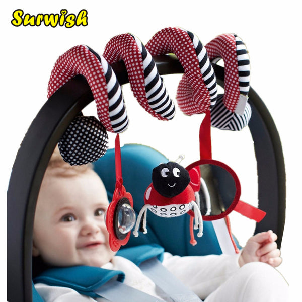 Baby Car Seat Play Toys | Spiral Bed & Stroller Toy Set | Hanging Bell Crib Rattle For Baby