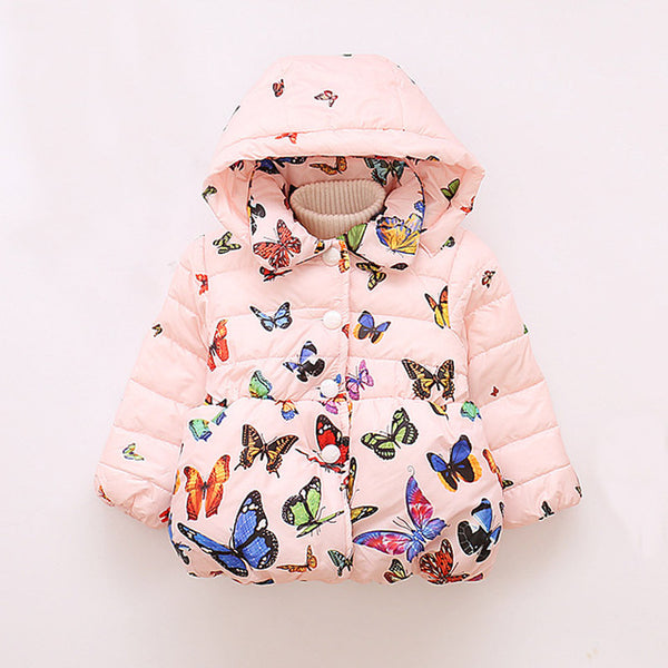 Baby Girls Jacket/Coat | Warm Hooded Outerwear Coat For Girls