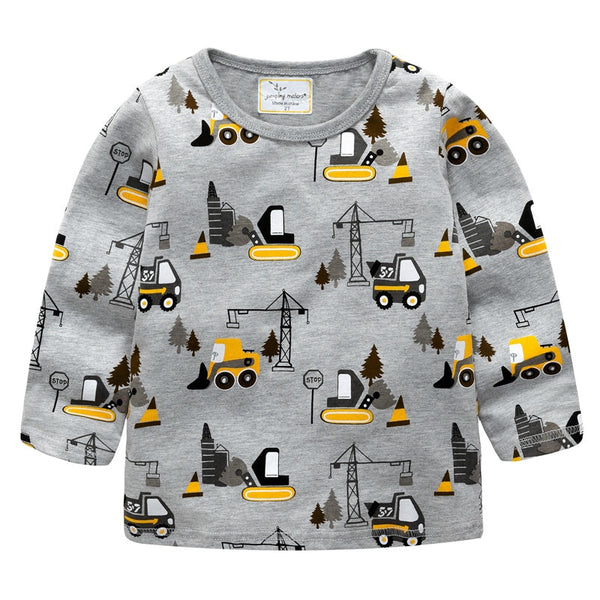 Toddler Forklift Pattern Tshirts