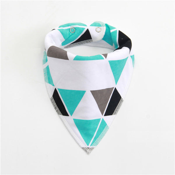 Cotton Baby Bibs | Burp Cloth | Reusable Washable Triangle Baby Bibs