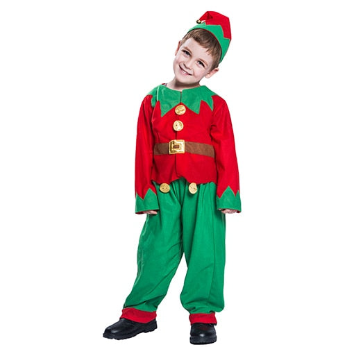 Toddler Christmas Elf Uniform Hat Suit