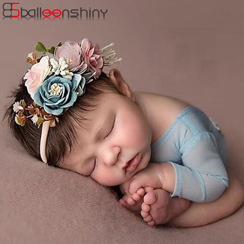 3PCS Baby Girls Artificial Flower Headband