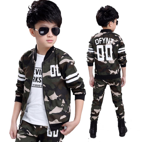 Fashionable Stylish! Military Camouflague Clothing Set