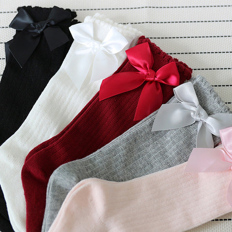 New & Decent! Big Bow Knee High Socks