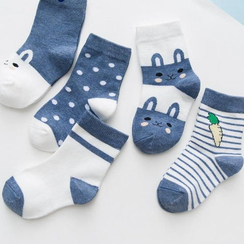 Casual Cartoon Striped Toddler Socks