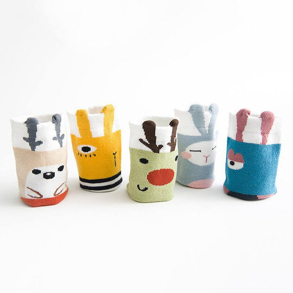 5 Pairs/Lot Toddler Kawaii Socks