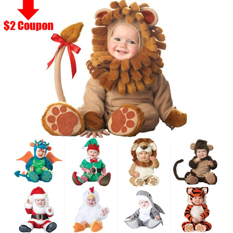 2018 Carnival Halloween Outfits Baby Girls Animal Costume