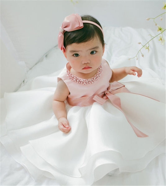 New Born Baby Girl Summer Dress Christening