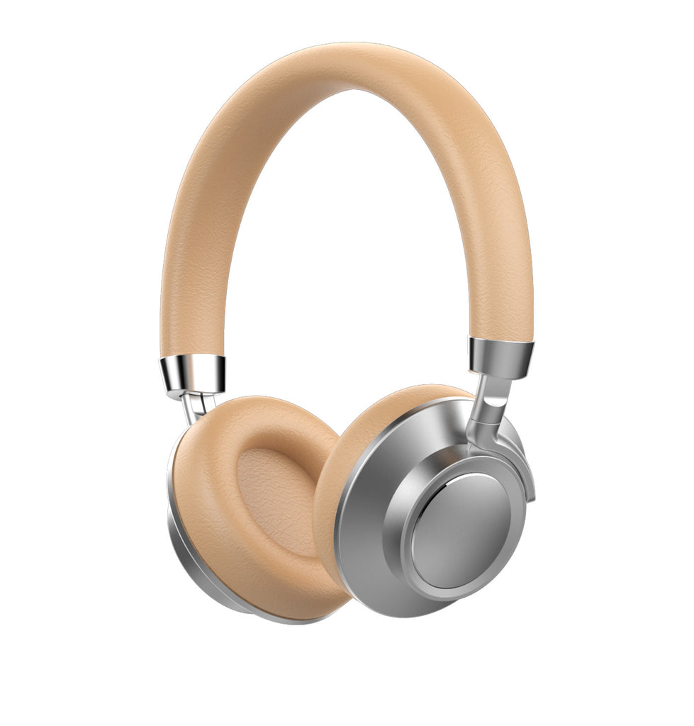 wireless phone headset in gold