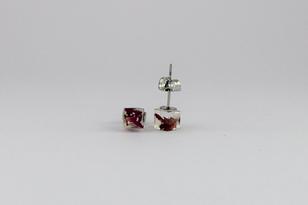 Boronia Cube Earrings