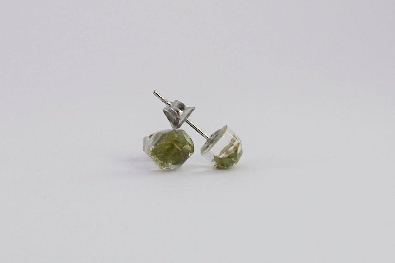 Spinning Gum Faceted Earrings