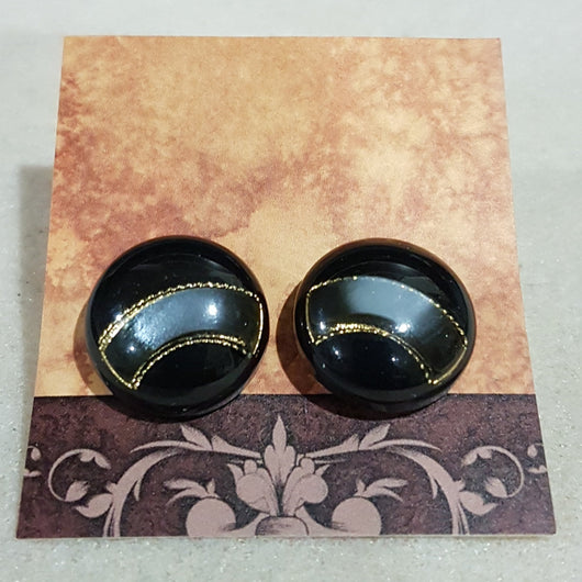 Shank Button Earrings - Livi Lou Handmade Jewellery
