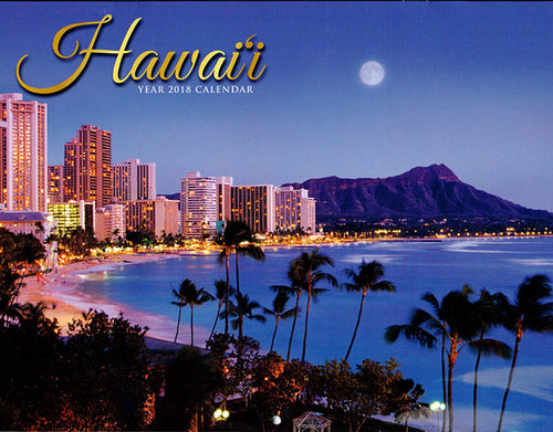 Hawaii (Oahu Cover) Year 2018 Calendar