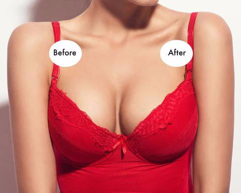 0f32ee96091 Breathable Perforated Silicone Bra Insert Breast Enhancer