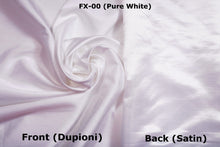 Load image into Gallery viewer, Faux Silk Fabric sold by yards, One side Dupioni Silk & other side Satin Silk.