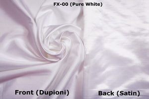 Faux Silk Fabric sold by yards, One side Dupioni Silk & other side Satin Silk.