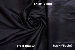 Faux Silk Fabric Dupioni Satin Back,1 to 50 meters bolt, many Colors,140 cm wide
