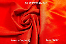 Load image into Gallery viewer, Faux Silk Fabric Dupioni Satin Back,1 to 50 meters bolt, many Colors,140 cm wide