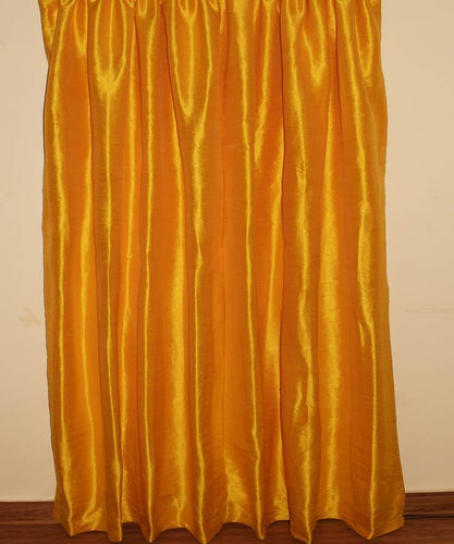 Marygold Color Pure Silk Dupioni Curtains
