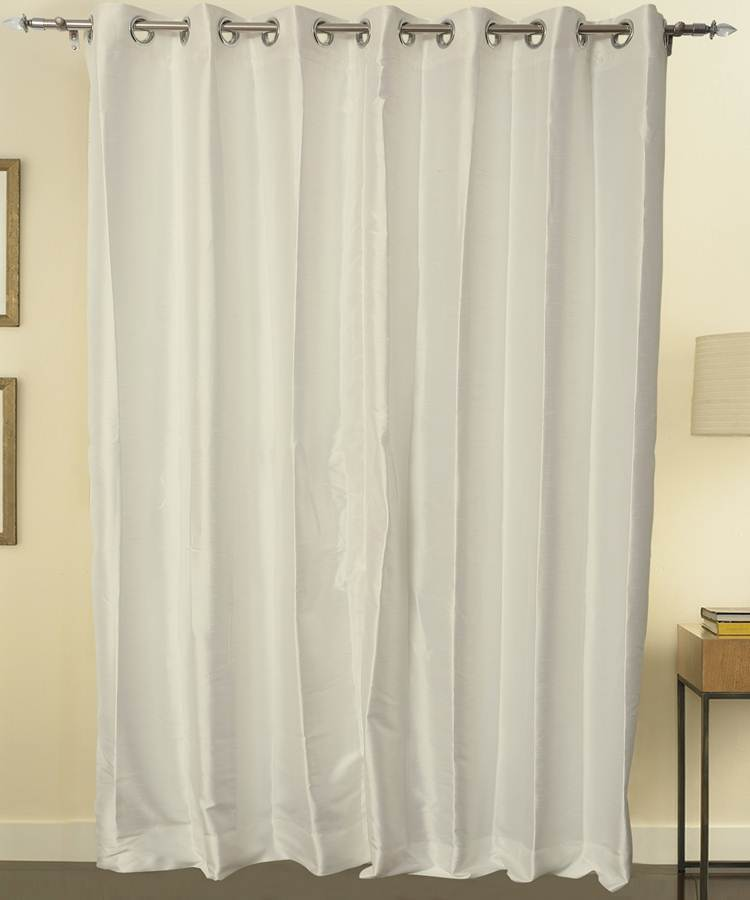 Ivory Color Pure Silk Dupioni Curtains