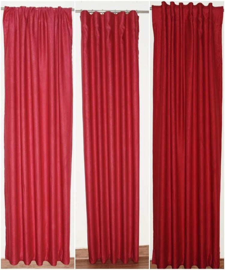 Red Linen Curtains