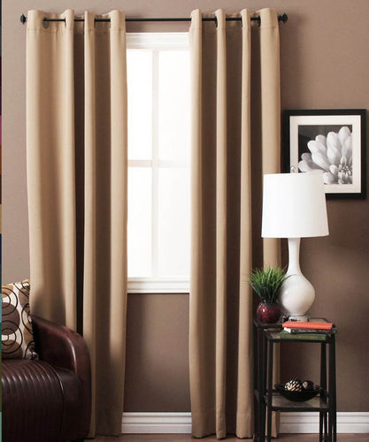Beige Blackout Curtains