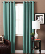 Load image into Gallery viewer, Aqua Green Blackout Curtains