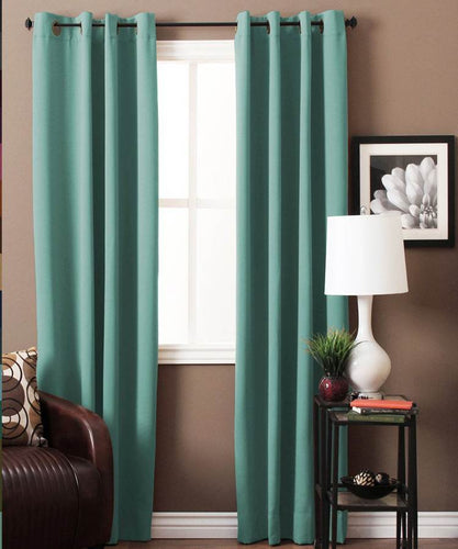 Aqua Green Blackout Curtains