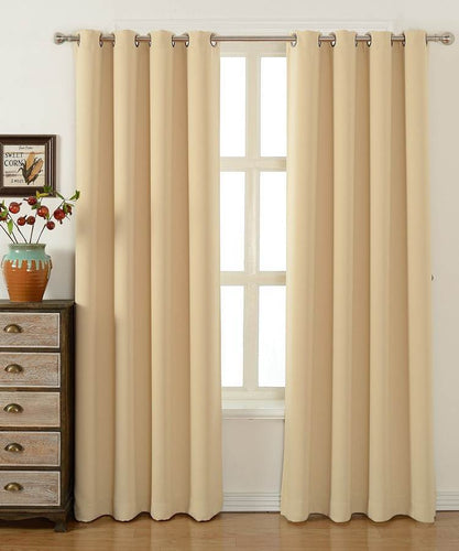 Cream Blackout Curtains