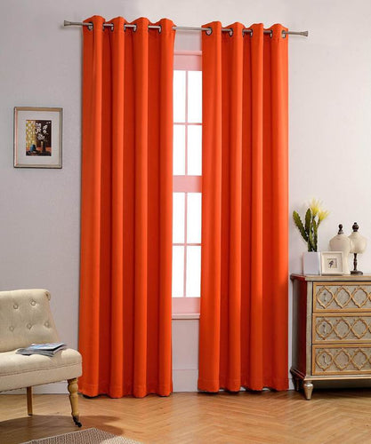 Orange Blackout Curtains