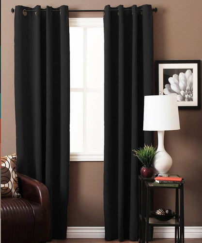 Black Blackout Curtains