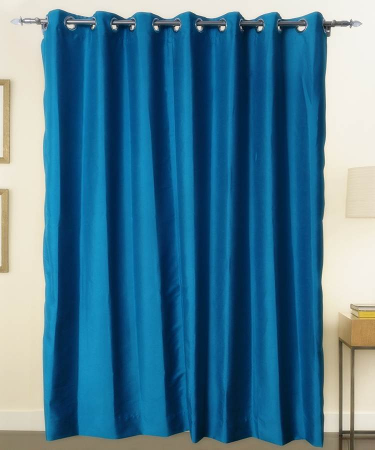Turquise Color Pure Silk Dupioni Curtains