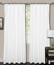 Load image into Gallery viewer, French Pleate White Silk Curtains
